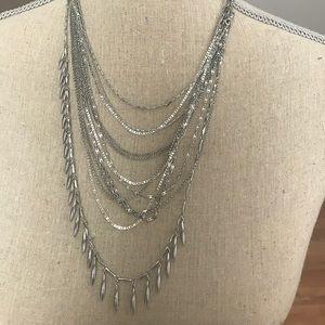 Stella dot Lindsay layering necklace versatile bnw